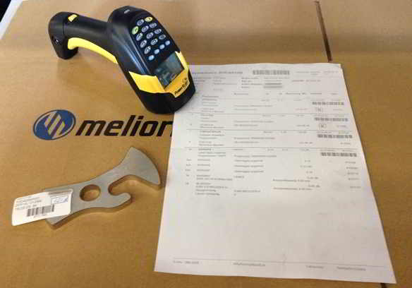 Production sheet and product box label at Melior Laser