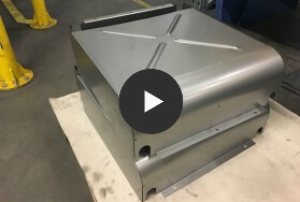 Punching, embossing on a sheet metal part - video