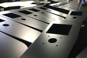 Powder coated sheet metal parts for the energy industry